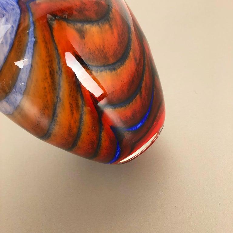 Large Vintage Pop Art Opaline Florence Vase Design 1970s, Italy 7