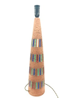 Large Vintage Pottery Table Lamp from the 1960s