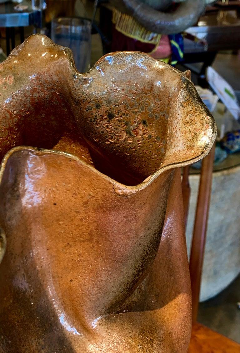 Large Vintage Pottery Vessel For Sale 2