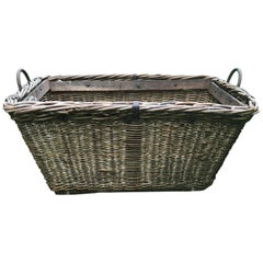 Large Vintage Rustic Wicker Basket