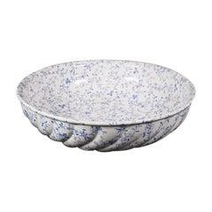 Large Vintage Salad Bowl, English, Ceramic, Serving, Fruit Dish, Circa 1930