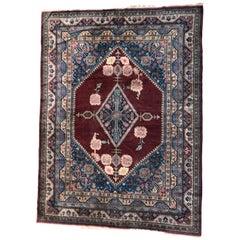 Large Vintage Samarkand Rug, Antique Rugs China Rugs, Vintage Carpets