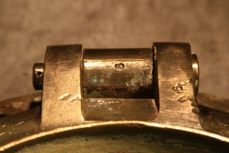 Large Vintage Solid Brass Ship's Porthole For Sale 6