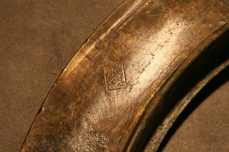 Large Vintage Solid Brass Ship's Porthole For Sale 7
