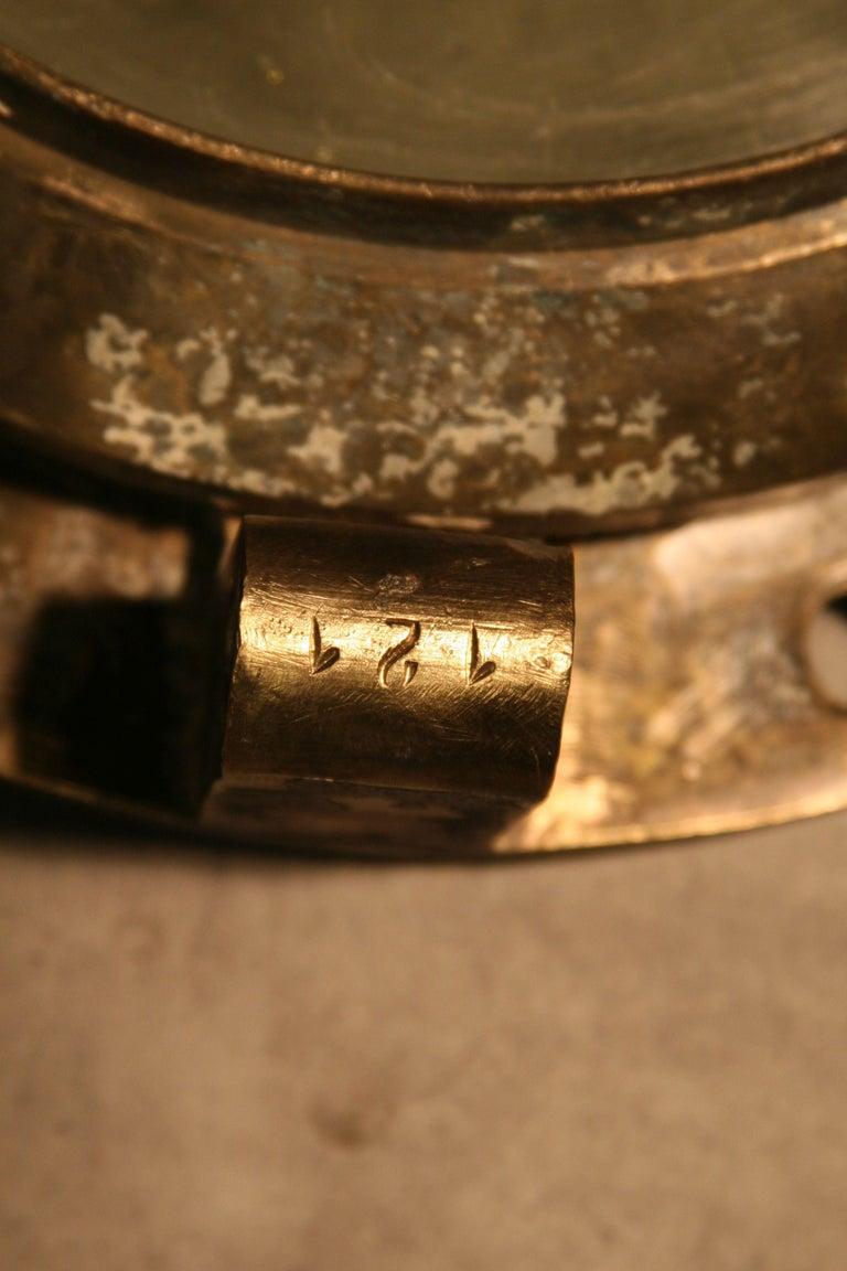 Large Vintage Solid Brass Ship's Porthole For Sale 3