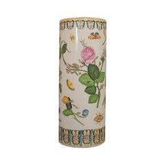 Large Vintage Stick Stand, Oriental, Ceramic, Decorative Vase, Art Deco