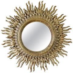 Large Vintage Sunburst Mirror, circa 1970