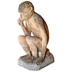 Large Vintage Terracotta Monkey