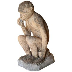 Large Vintage Terracotta Monkey