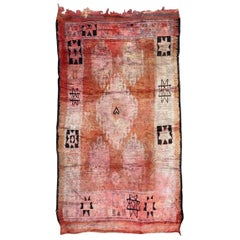Large Vintage Tribal Moroccan Berbere Rug