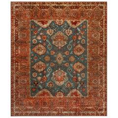Large Vintage Turkish Oushak Carpet