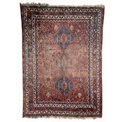Large Vintage Used Shiraz Rug