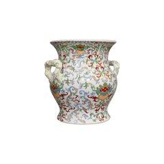Large Vintage Vase, Oriental, Ironstone, Decorative, Pot, Centrepiece