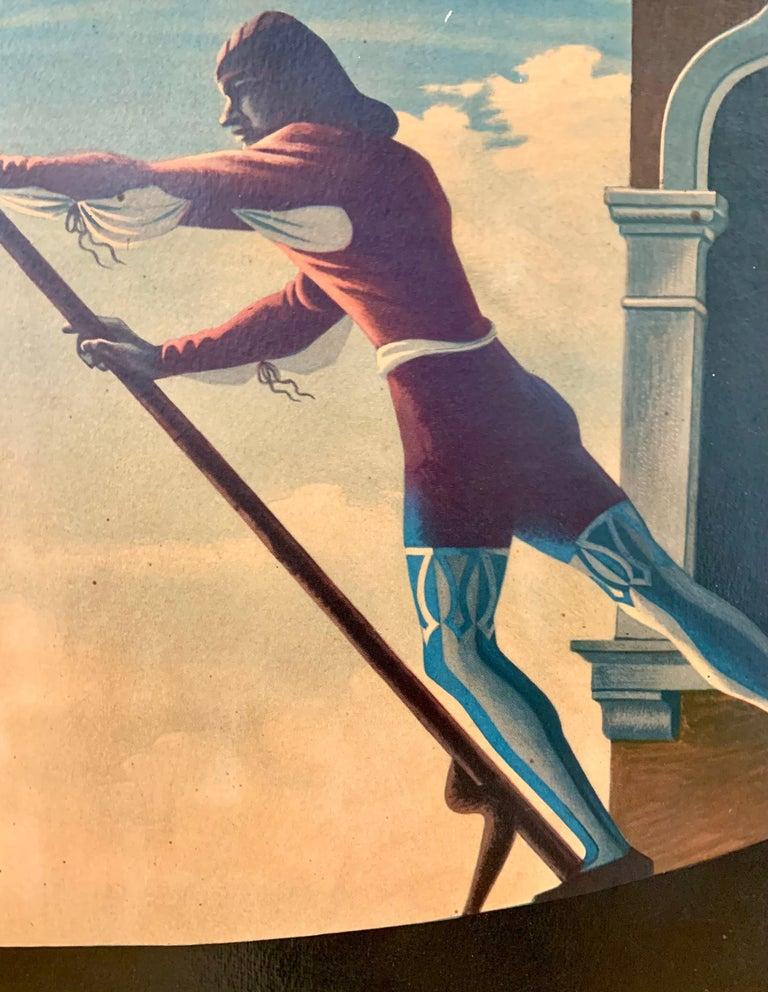 Italian Large Vintage Venezia Venice Italy Framed Travel Poster