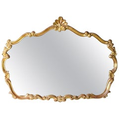 Large, Vintage, Wall Mirror, Rococo Revival Taste, English, Late 20th Century