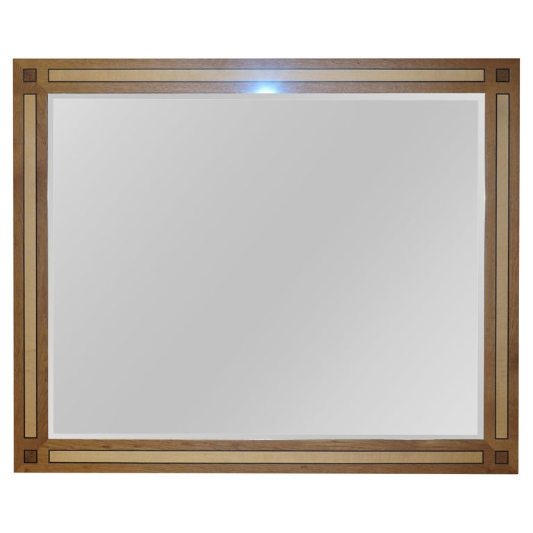 Large Viscount David Linley Burr Walnut Satinwood & Sycamore Overmantle Mirror For Sale