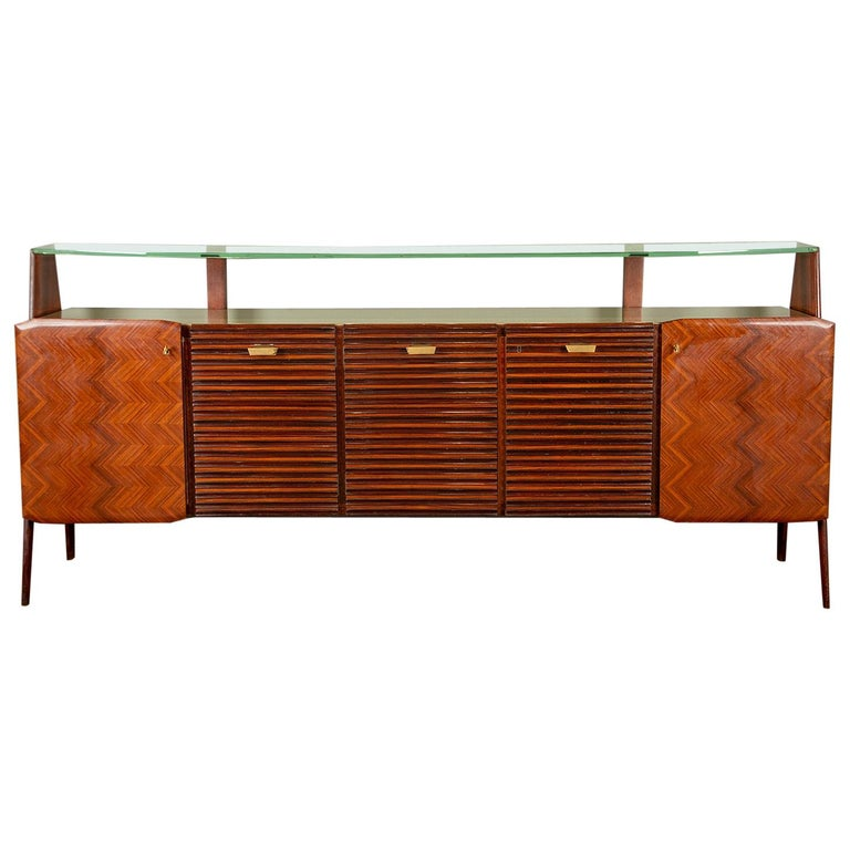 Large Vittorio Dassi Style Italian Sideboard For Sale