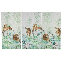 Large Wall Art of Hand Painted Tigers Print