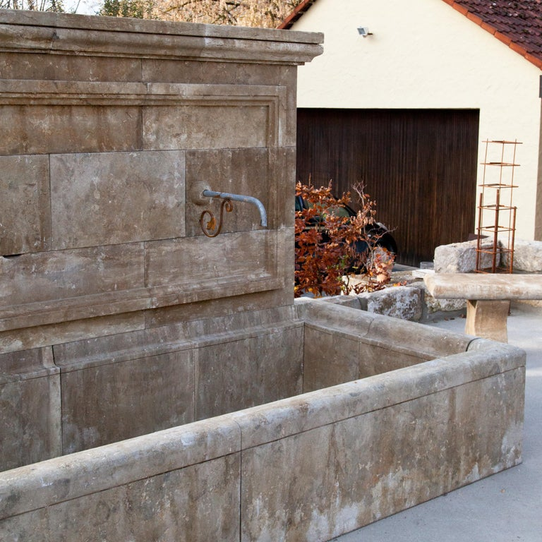 Stone Large Wall Fountain, 21st Century For Sale