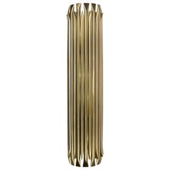Large Wall Light in Brass with Brushed Nickel Finish