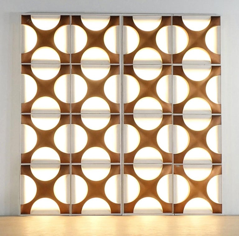 Copper Large Wall Light Sculpture by Dieter Witte and Rolf Krüger for Staff Leuchten For Sale