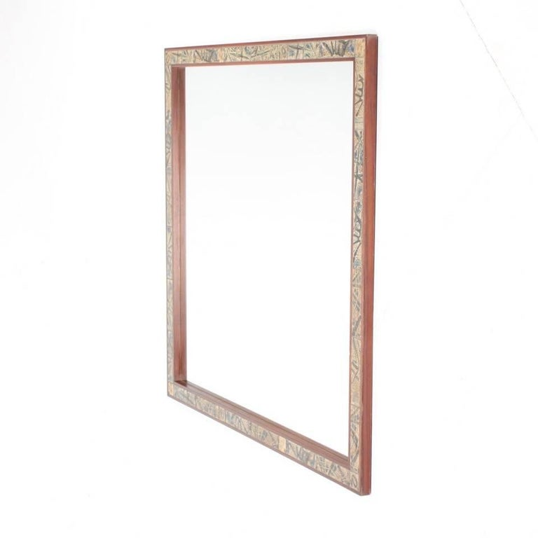 Large Wall Mirror by Royal Copenhagen For Sale