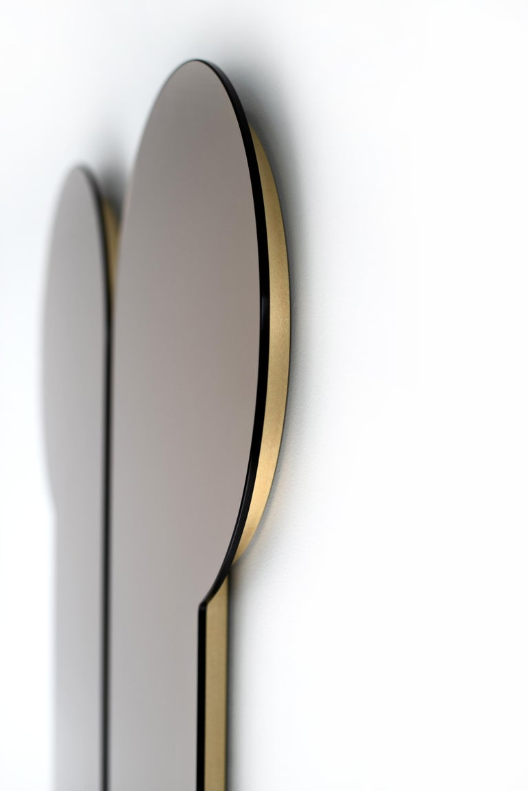 Large Bronze Hallway Mirror, Contemporary Titus Mirror by Ben & Aja Blanc For Sale 1