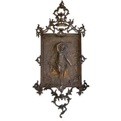Large Wall Mounted Cast Iron Baroque Decoration, 1890s