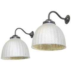 Large Wall Mounted Mercury Glass Lights, circa 1930s