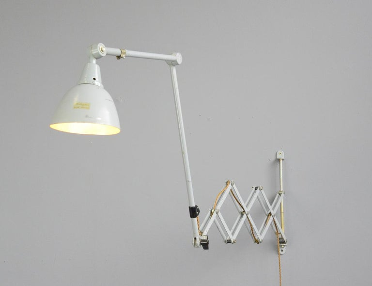 Large Wall-Mounted Scissor Lamp by Midgard, circa 1960s For Sale 2