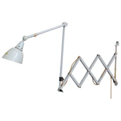 Large Wall Mounted Scissor Lamp by Midgard, circa 1960s