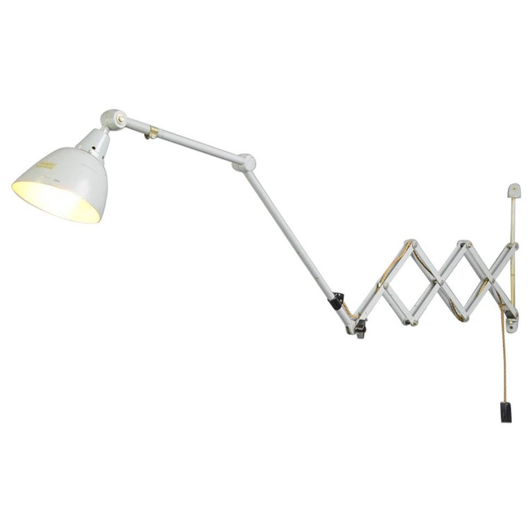 Large Wall-Mounted Scissor Lamp by Midgard, circa 1960s For Sale