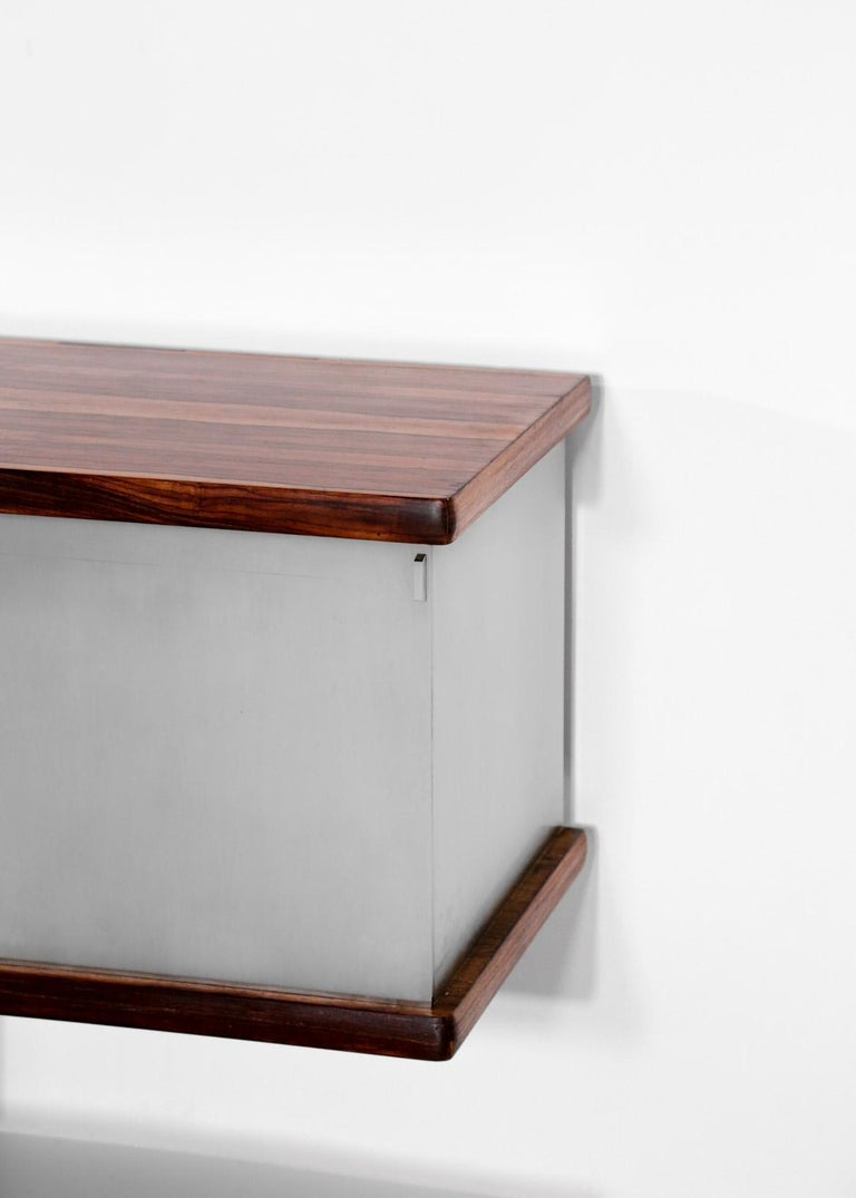 Large Wall Mounted Sideboard Attributed to Osvaldo Borsani For Sale 3