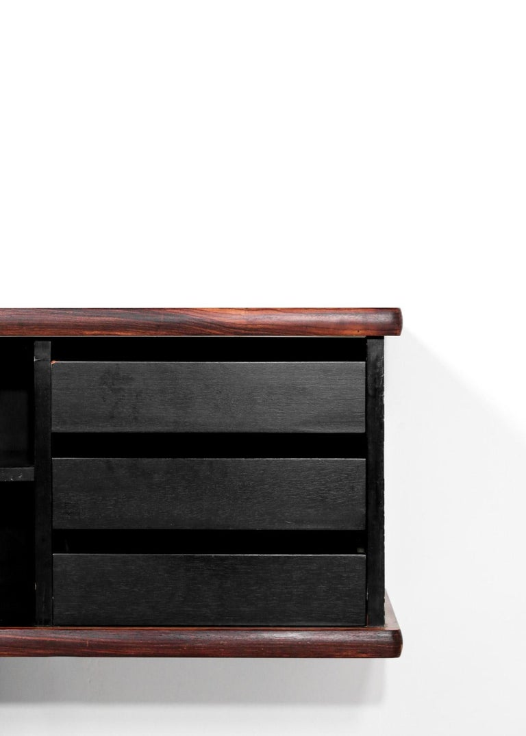 20th Century Large Wall Mounted Sideboard Attributed to Osvaldo Borsani For Sale