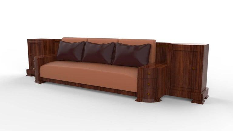 Large Walnut Art Deco Sofa For Sale At 1stdibs