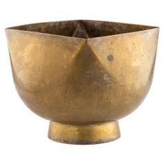 Large Ward Bennett Bowl, Brass, Signed