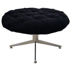 Large Ward Bennett Round Swivel Ottoman