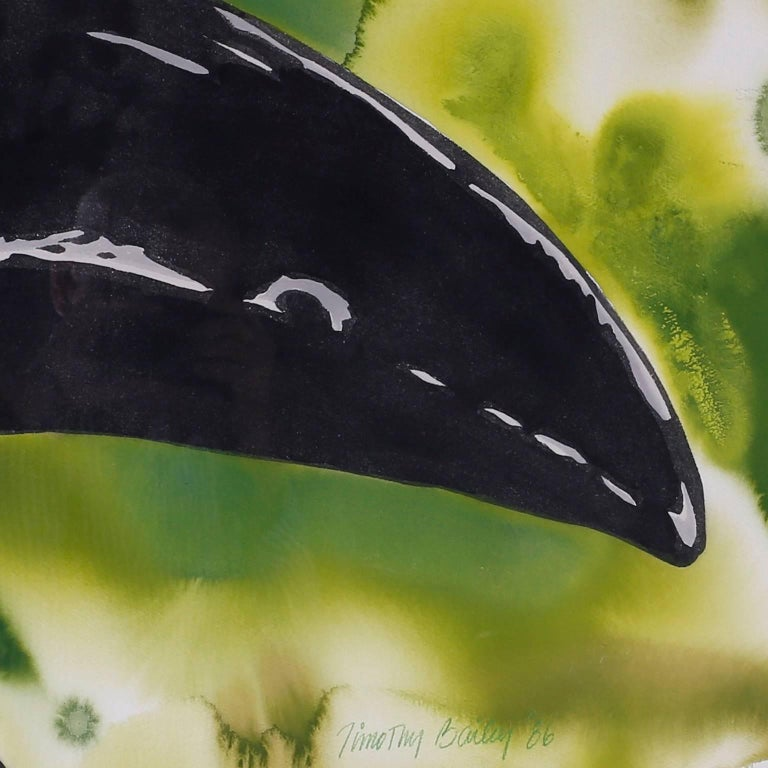 American Large Watercolor Painting of a Toucan For Sale