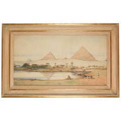 Large Watercolour of Cairo by Robert Murdoch Wright