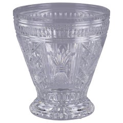 Large Waterford Cut and Faceted Glass Vase, 20th Century