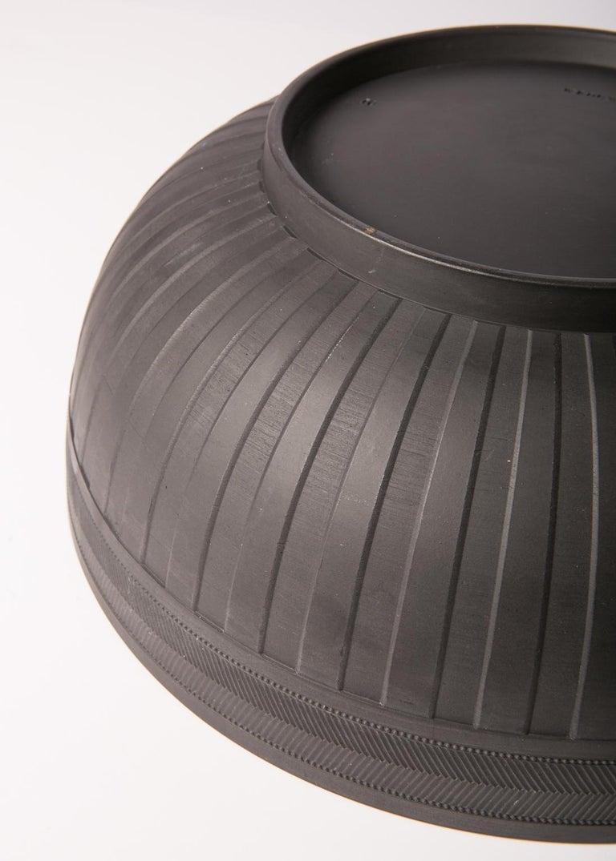 Neoclassical  Large Wedgwood Black Basalt Bowl