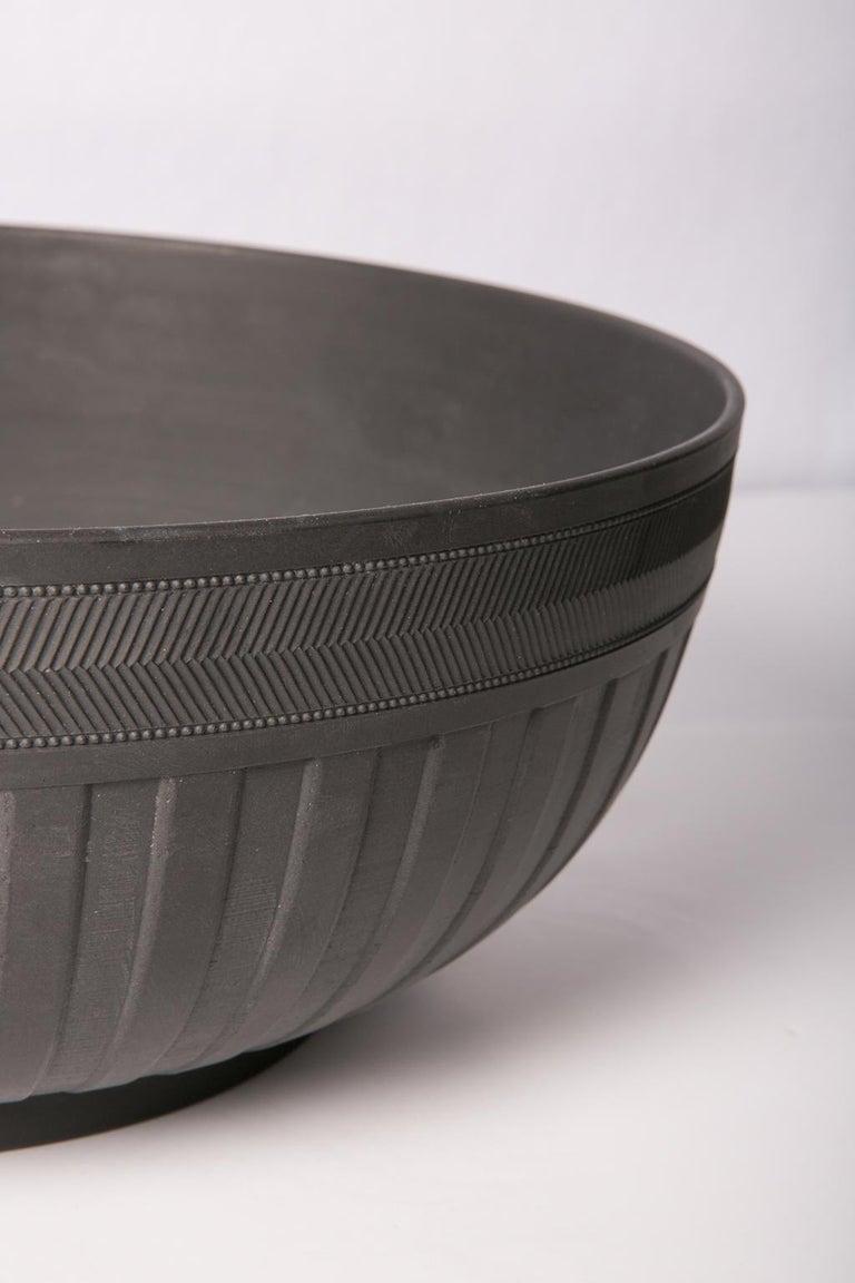 English  Large Wedgwood Black Basalt Bowl