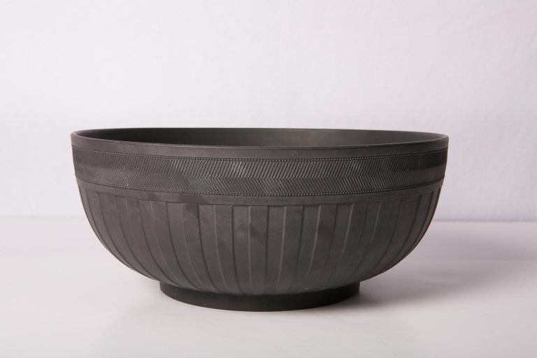 19th Century  Large Wedgwood Black Basalt Bowl