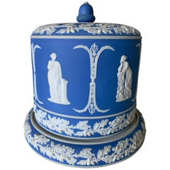 Large Wedgwood Blue Jasperware Cheese Dome