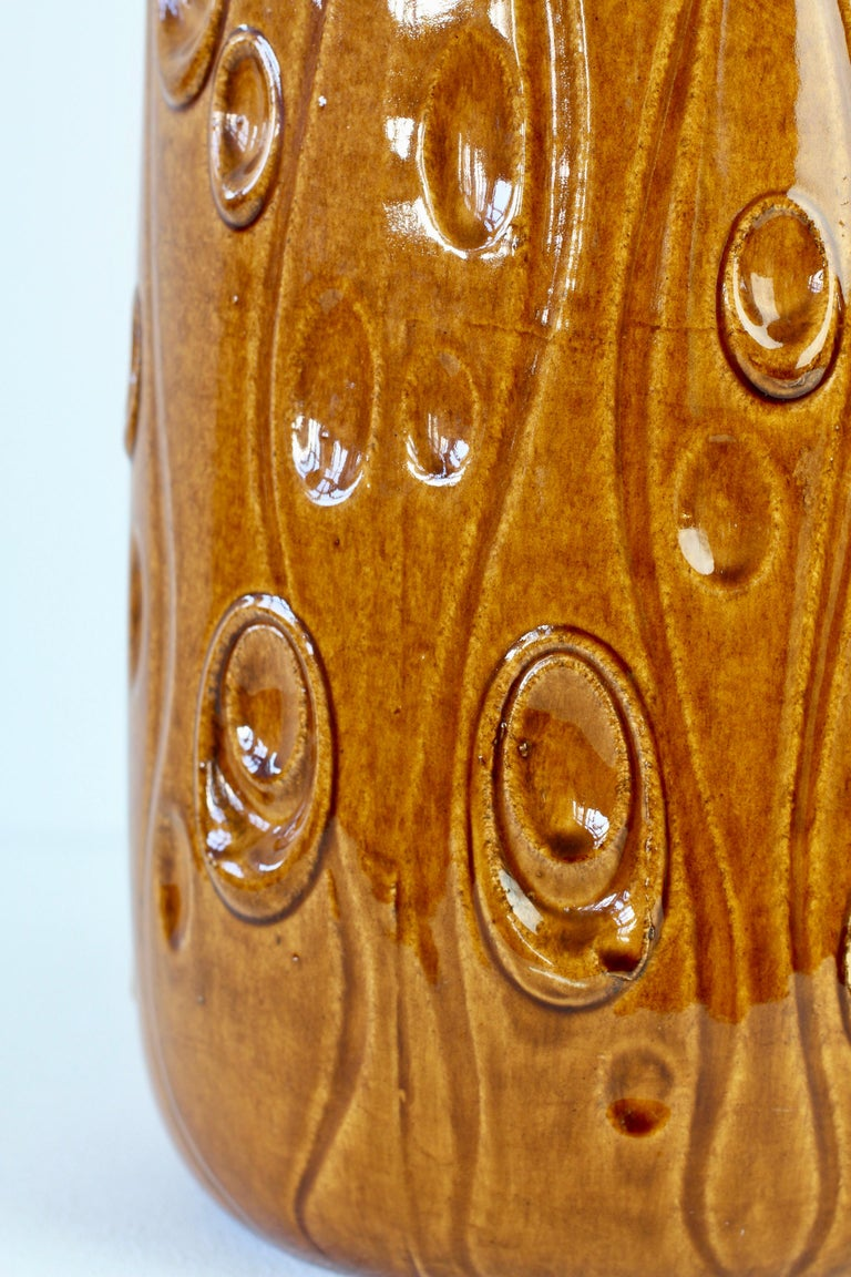 Large West German Floor Vase 'Koralle' Deco by Scheurich Pottery, circa 1960s For Sale 8