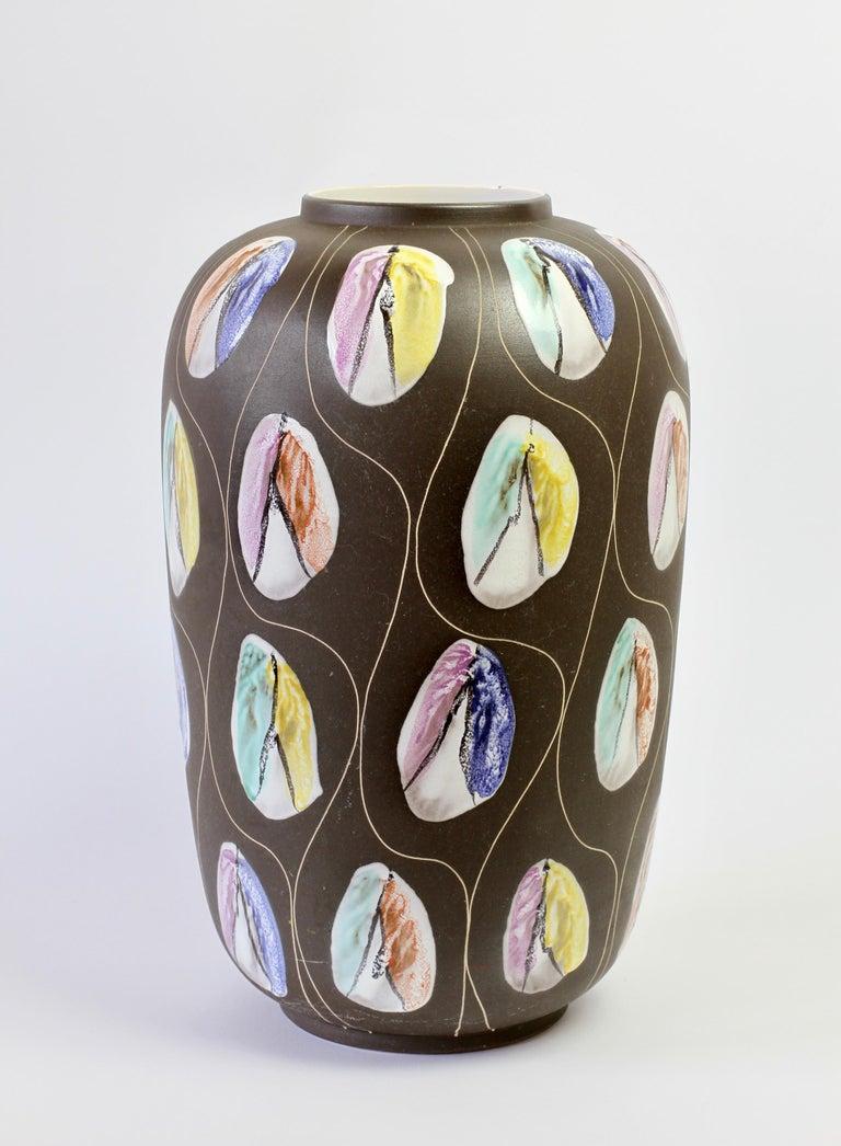 Ceramic Large West German Pottery Floor Vase by Bodo Mans for Bay Keramik, circa 1959 For Sale