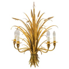 Large Wheat Sheaf Ceiling Light by Hans Kögl, Germany, 1970s