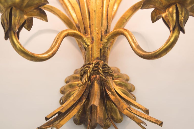 Large Wheat Sheaf Wall Light by Hans Kögl, Germany, 1970s In Good Condition For Sale In Nürnberg, Bayern