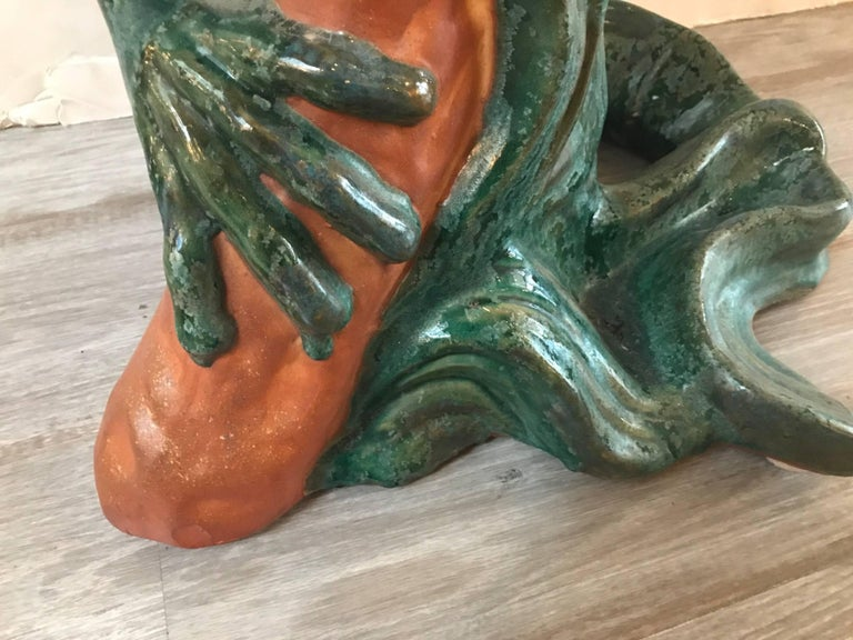 Large Whimsical Italian Frog Sculpture 1