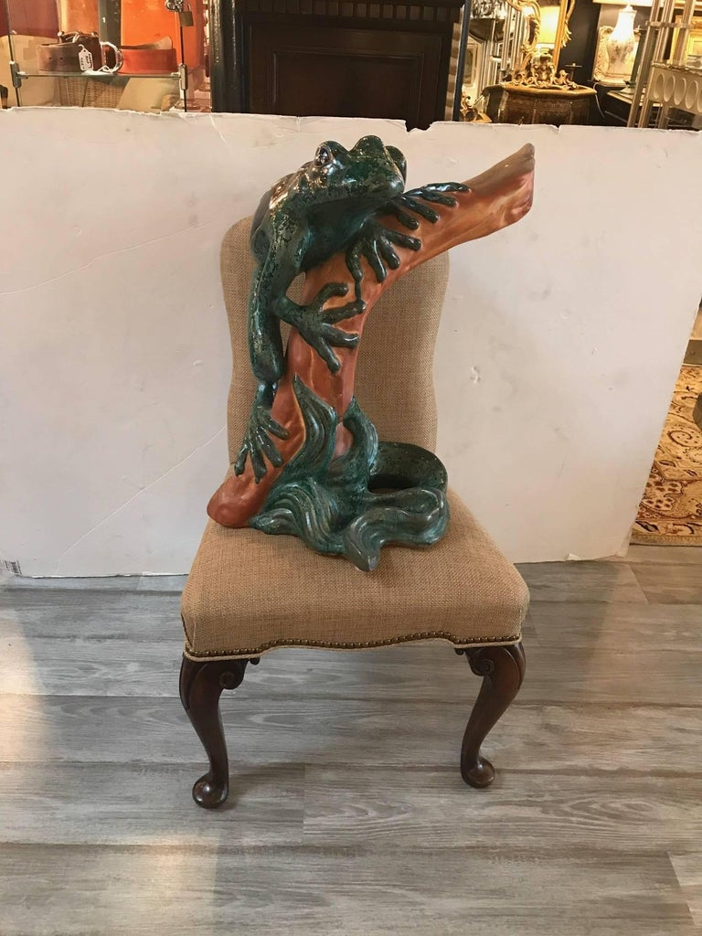 Large Whimsical Italian Frog Sculpture 2